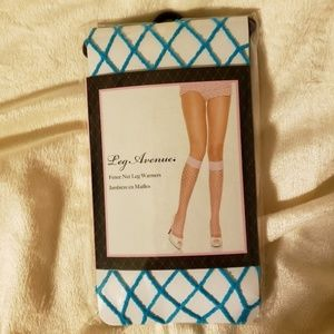 *NWT* Turquoise Fence Net Knee Highs